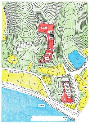 安居城跡遺構概念図