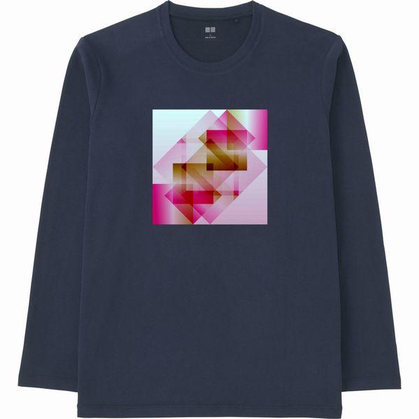 赤白グラデーション連結リサイズ合成ヒストグラムTシャツ長袖