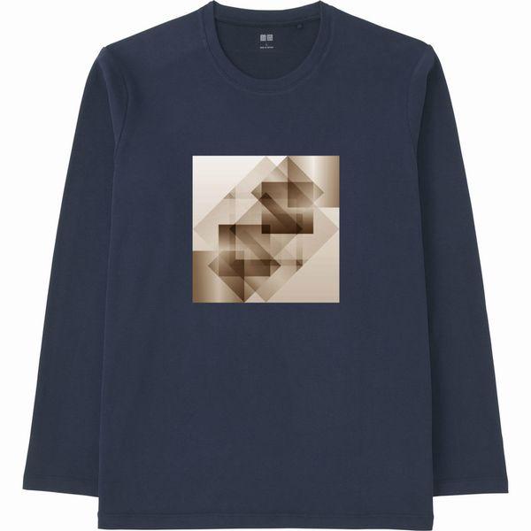 赤白グラデーション連結リサイズ合成ヒストグラムセピアTシャツ長袖