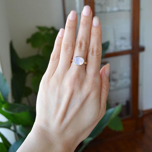 ラベンダーアメジストリング指輪