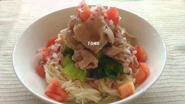 豚しゃぶ素麺~トマトダレ~