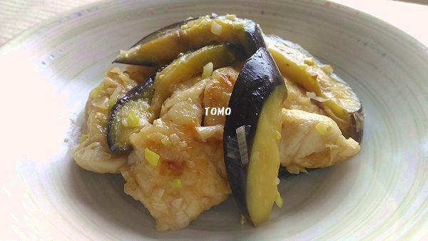 ナスと鶏胸肉のピリ辛炒め