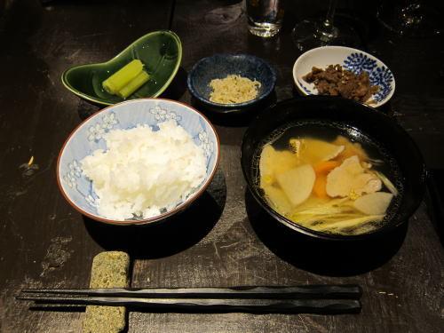 お食事(フキのお浸し・ちりめん山椒・和牛しぐれ煮・豚汁)