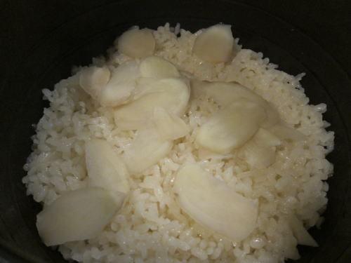 新生姜の炊き込み