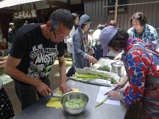 山菜を料理