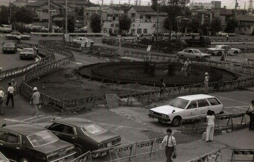 昭和57年、工事中の高崎駅東口ロータリー