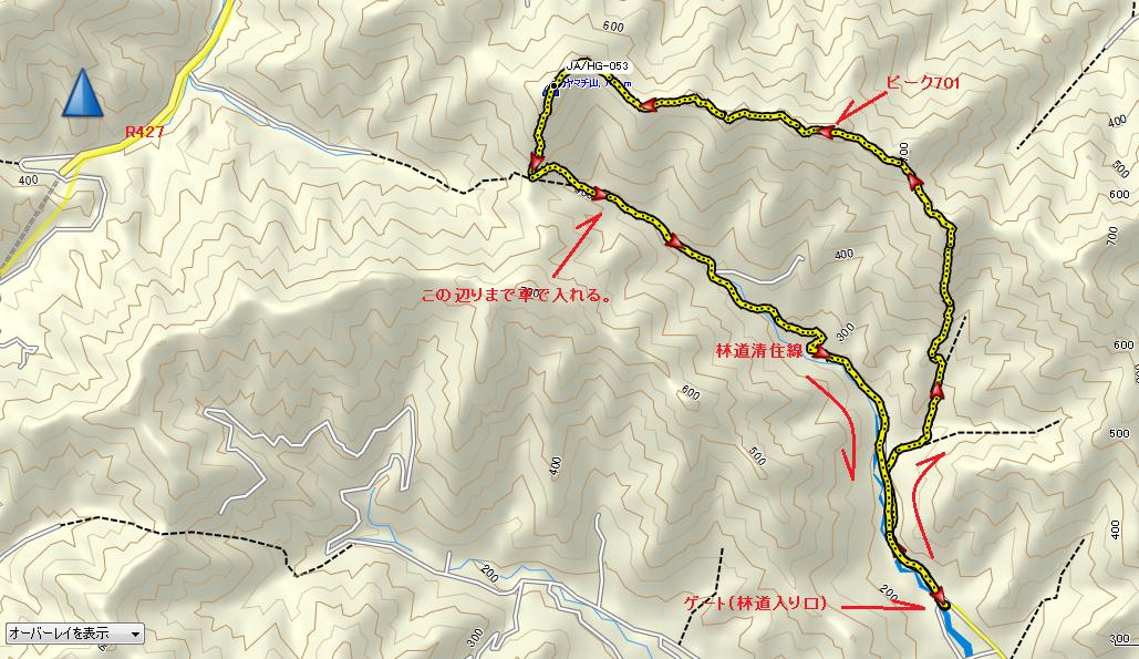 2017カヤマチ山/ルート