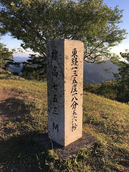2017大野山/山頂碑