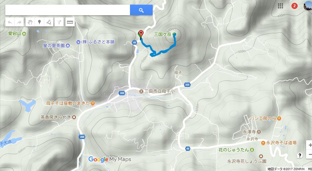 2017三国ヶ岳/地図