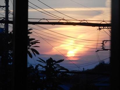 ①ある日の夕日