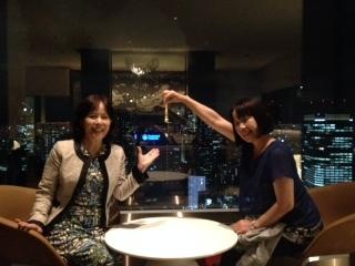 美紀と東京タワーをつまむ