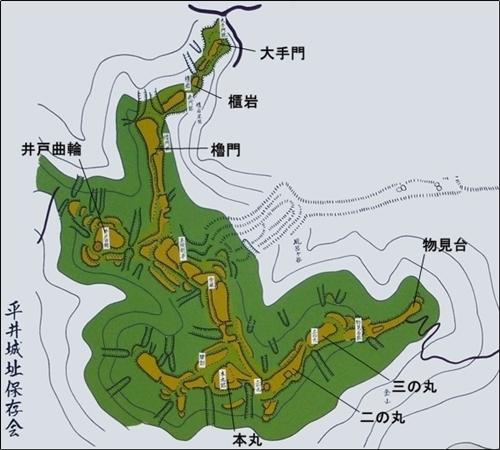 平井金山城縄張