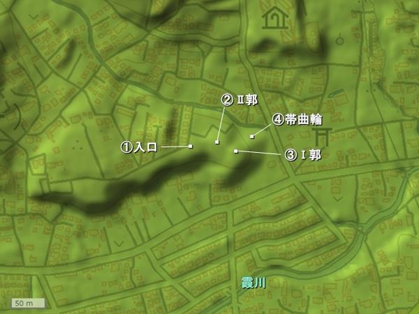 今井城地形図