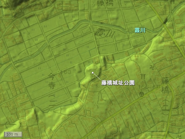 藤橋城地形図