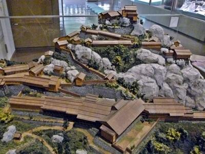 苗木城_復元模型
