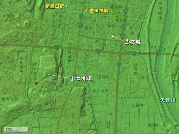 挙母城地形図