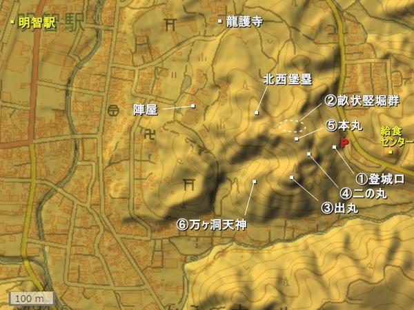 明知城地形図