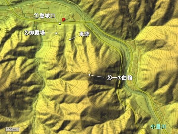 小里城地形図