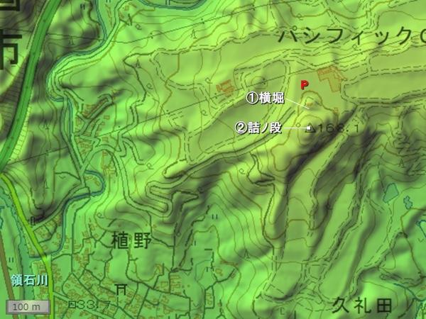 久礼田城地形図