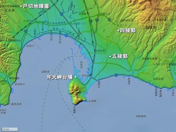 箱館地形図