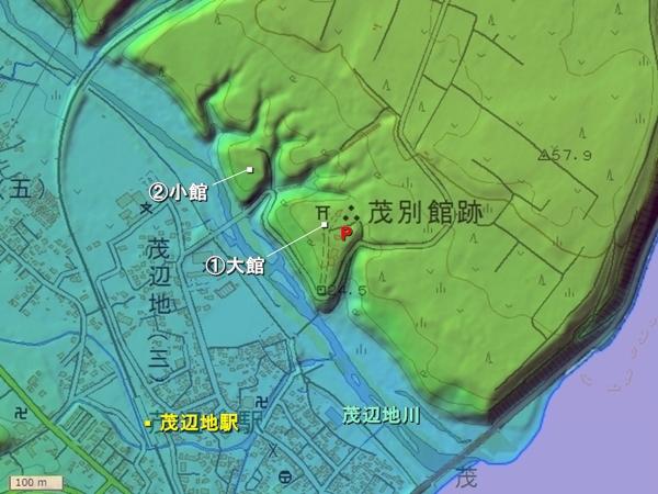 茂別館地形図