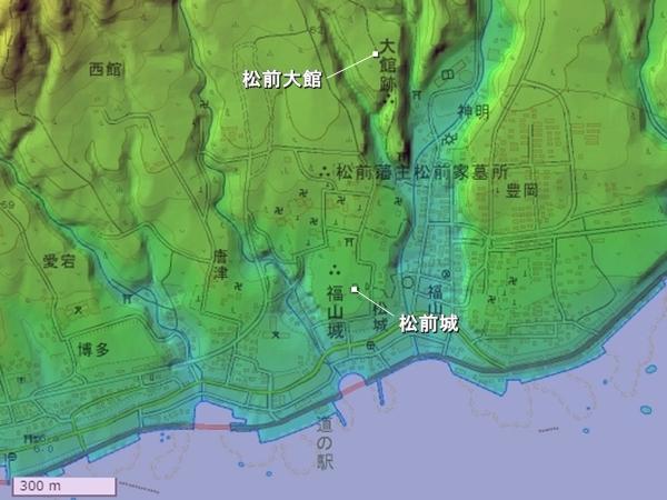 松前城広域図