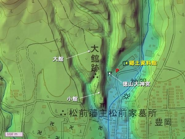 松前大館地形図