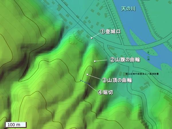 花沢館地形図