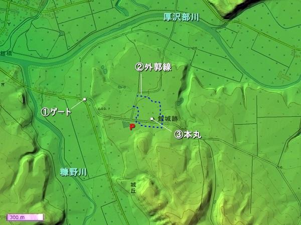 館城地形図