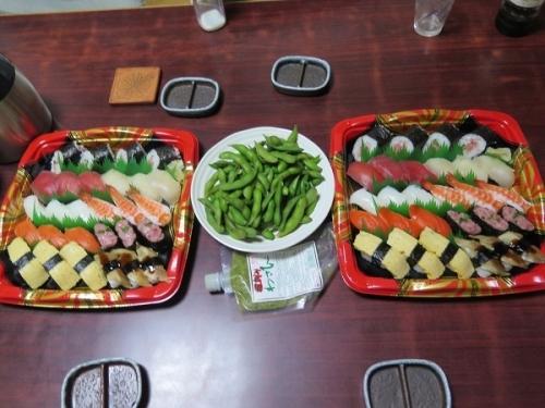 半額寿司と半額枝豆