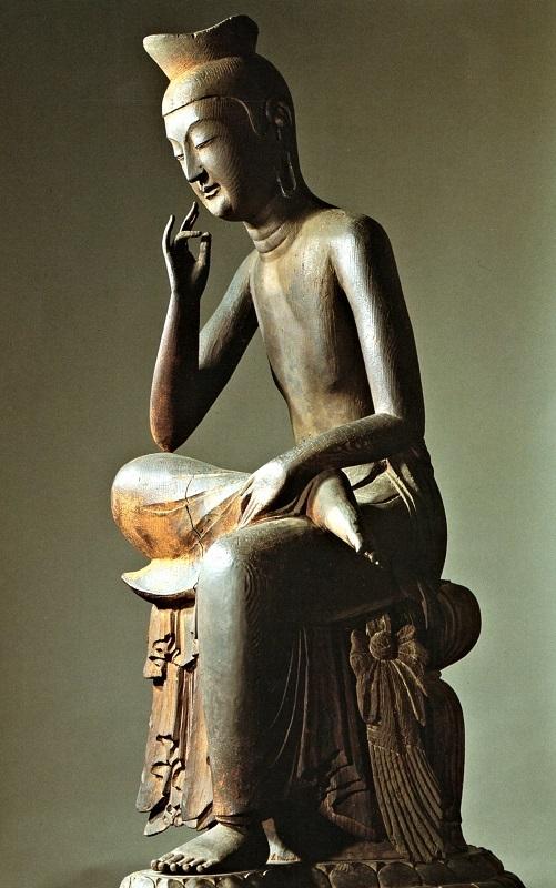 広隆寺・宝冠弥勒半跏像