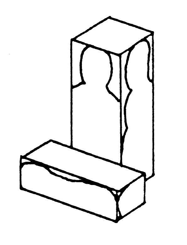 大型の一木彫坐像の標準的な木の寄せ方