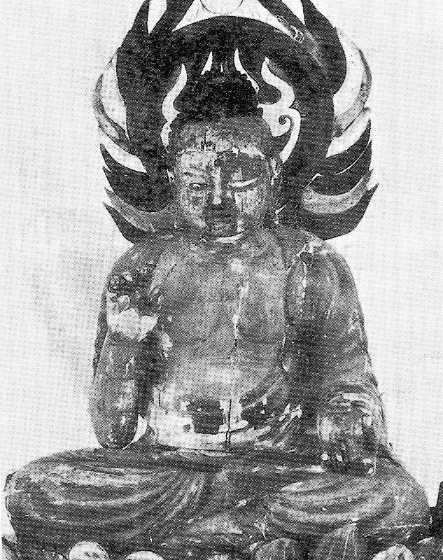 昭和24年の修理前の古保利薬師像(松本眞著「古保利の仏像」所載)