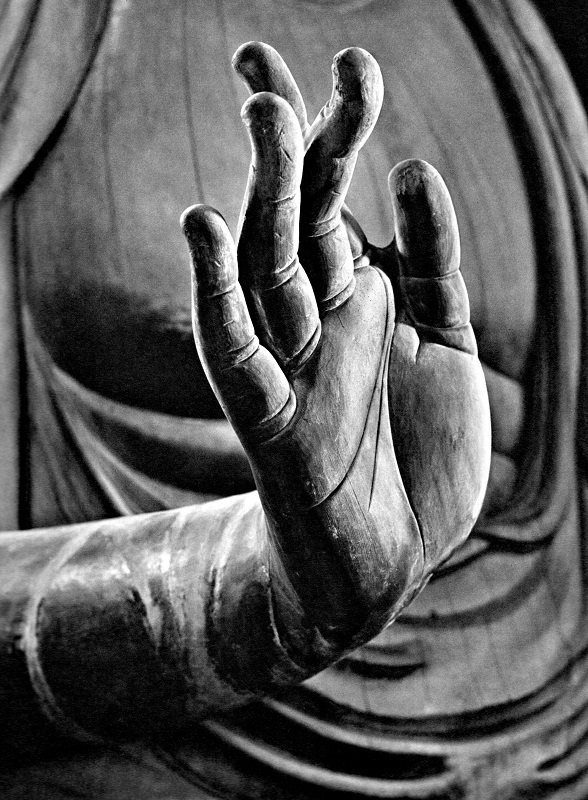 新薬師寺・薬師如来像の右手指