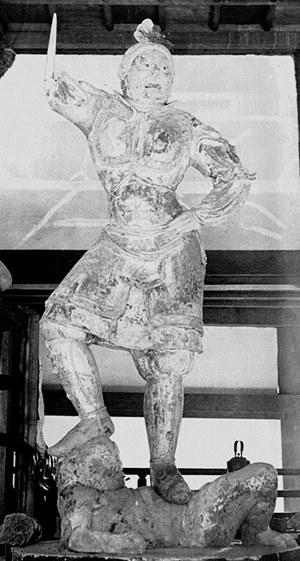 明治修理(明治38~39年)直前の東大寺戒壇堂四天王像~後世につけられた拙劣な腕・手が除去されている
