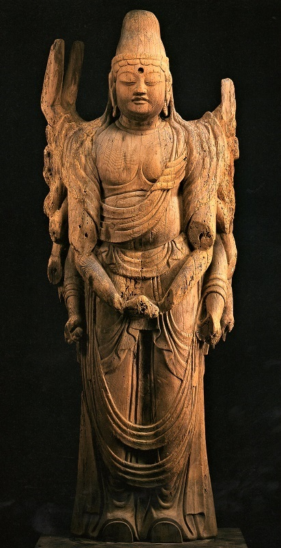 古保利薬師堂・千手観音像~脇手まで一木で彫り出されている
