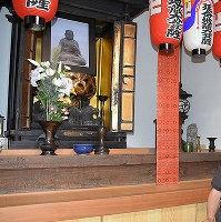新町地蔵保存会・地蔵菩薩像が祀られていた、町の小さなお堂