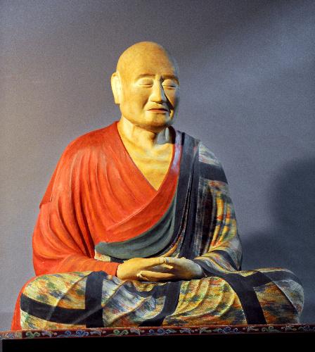 唐招提寺・鑑真和上像のお身代わり像(模造)~古色付けをする前