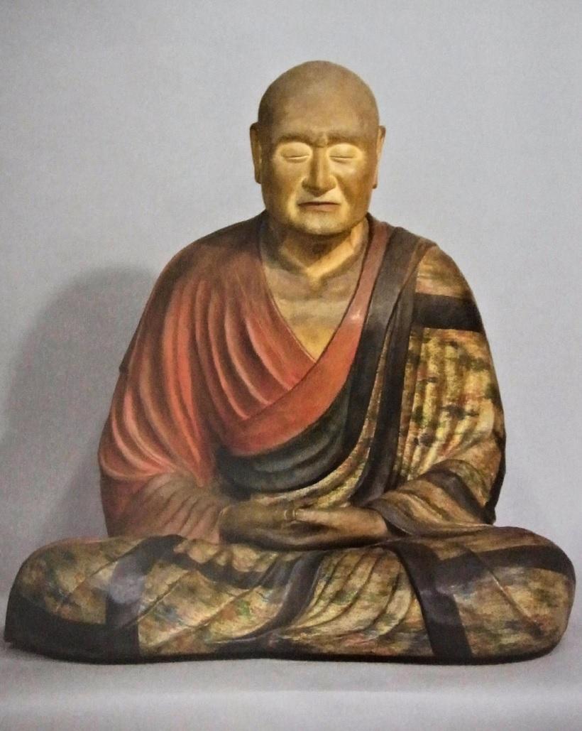 唐招提寺・鑑真和上像のお身代わり像(模造)~古色付け後