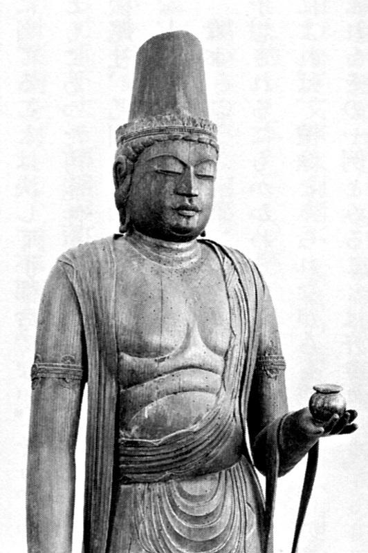 昭和25年修理以前の常念寺像~左手に薬壺を持っている