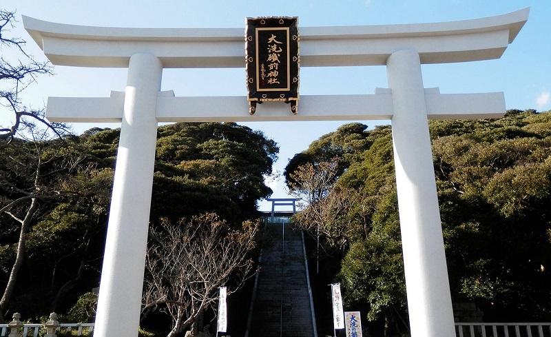 大洗磯前神社(薬師菩薩名神が祀られたと伝えられる)