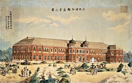 設計者・コンドル筆の上野の博物館