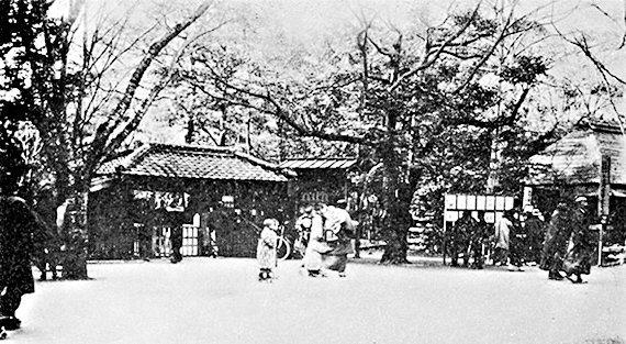 上野動物園の正門(明治40年・1907頃)