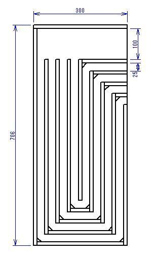 妄想スピーカー 多重共鳴管?
