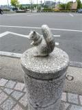 名鉄三好ヶ丘駅 リスのミニ石像