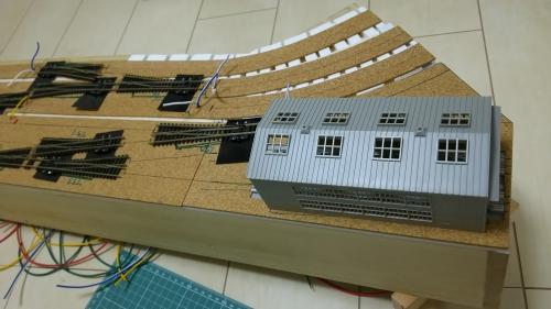 機関区線路敷設 (4)