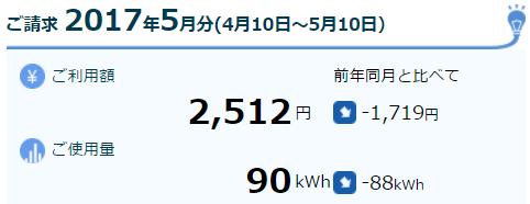 2017-05電気料金