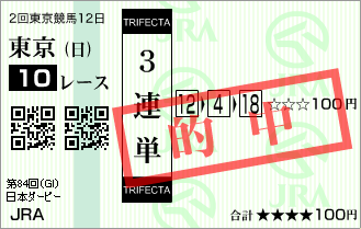 日本ダービー_的中2