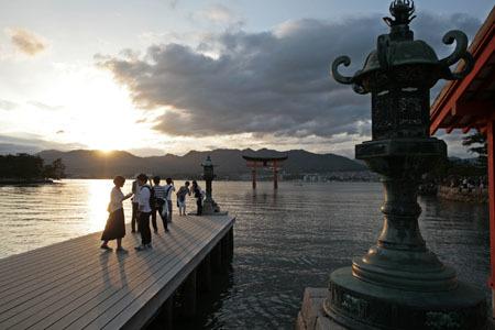 厳島神社 鳥居の撮影スポット