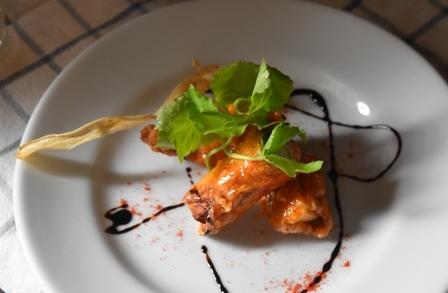 豚肉ロール チリソース